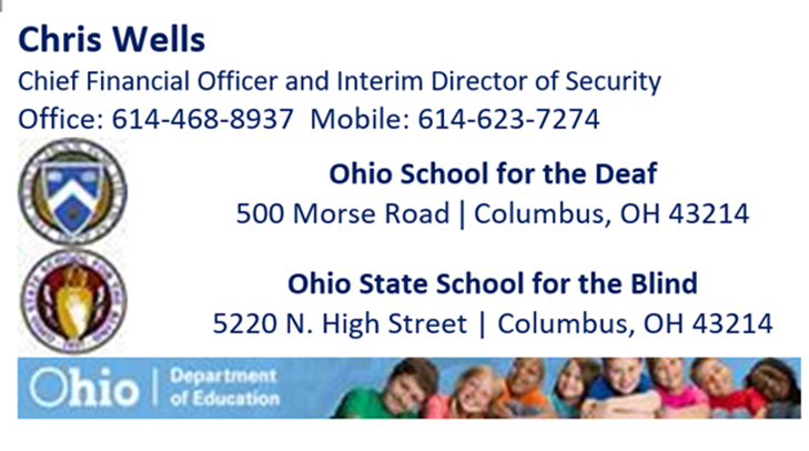 Fiscal Chief Contact Info